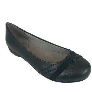 LIFE STRIDE Black Prentis Ballet Flat NIB
